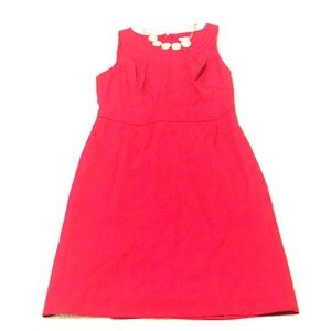 J crew factory red suit dress -size 12